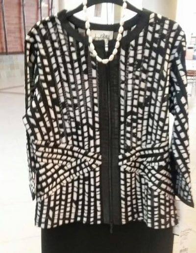 Black and White Pattern Women's Jacket